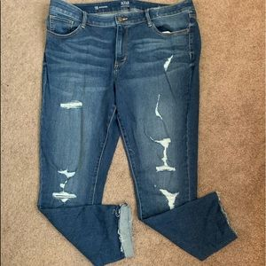 NWOT—Distressed Denim Jegging